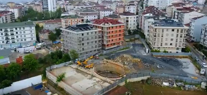 AK Parti döneminde yüzde 80'i tamamlanan metro hattına beton dökülerek kapatıldı