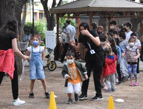 Pendik'te parkur yarışları geleneksel çocuk oyunları