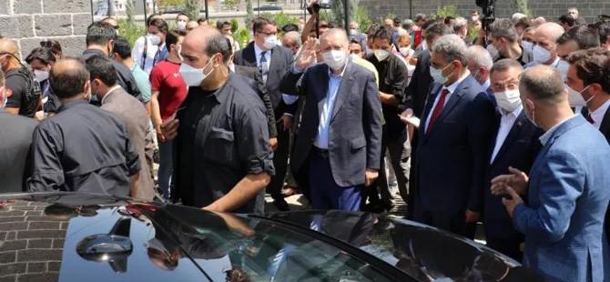 Diyarbakırlılar Başkan Erdoğan'ı bağrına bastı..