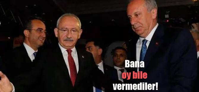 """Muharrem İnce'den CHP'ye; """"Beni sattınız"""""""