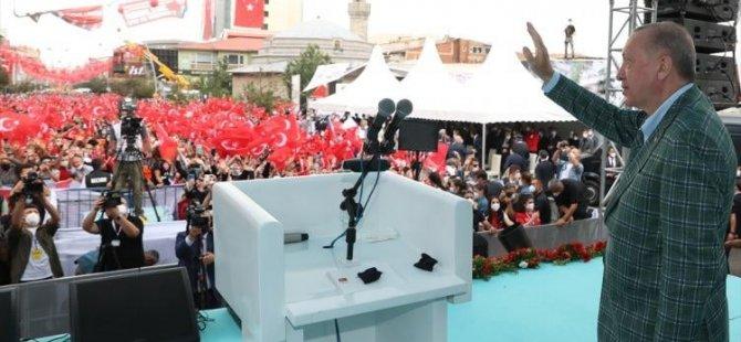 Erzurum Erdoğan'ı Bağrına Bastı