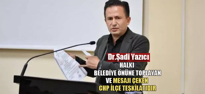 """Dr.Şadi Yazıcı: """"Tuzla Belediyesi'nin yetkisinde olmayan bir konuyu gündeme getirmek vatandaşla dalga geçmektir"""""""