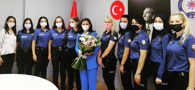 Tuba Durgut'tan Emniyet Müdürlüğü'ne ziyaret