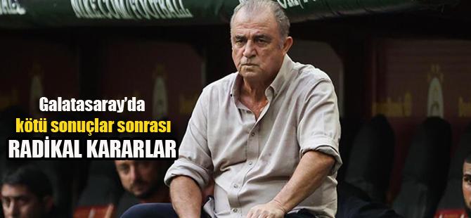 Galatasaray'da kötü sonuçlar sonrası alınan şok karar..
