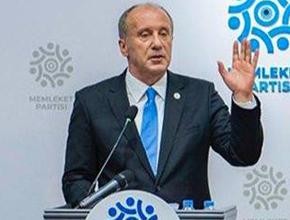 Memleket Partisi Genel Başkanı İnce'den Cumharbaşkanlığı açıklaması!