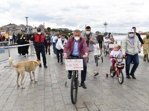 Üsküdar'da Pedallarla Serebral Palsi Hastalığı İçin Farkındalık Oluşturdular