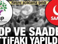 HDP ve SP ittifakı yapıldı! Resmi açıklama geldi