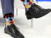 NATO'da çoraplarıyla gündem olan lider!