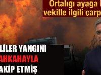 Ormanlar yanarken kahka atan CHP'li vekil!
