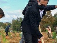 Tuzla'dan Manavgat'a 5 bin fidan