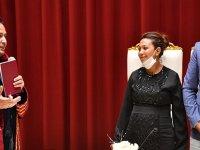 2 Çocuklu Romen Çiftin Nikahını  Belediye Başkanı Yazıcı Kıydı