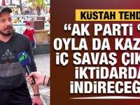 Alçak tehdit: Erdoğan yüzde 90 oy ile seçilse de oradan indireceğiz!