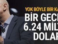 Bir gecede tam tam 6.24 milyar dolar kazandı!
